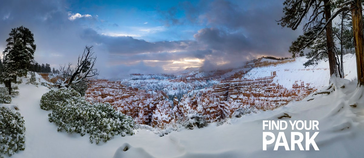 Bryce Amphitheater under snow.