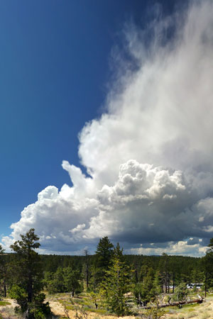 Storm cell forming viewed from Sunset Point. 20150813 Brian B. Roanhorse