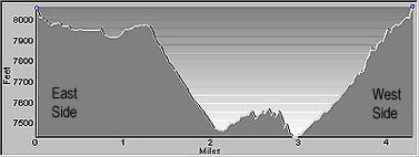 Elevation Profile of the Swamp Canyon Trail