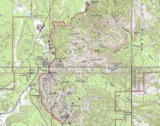 Topographical Image of entire Rim Trail