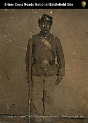 US Colored Troop Solider in full uniform