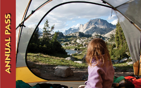 View from campsite at Island Lake in the Wind River Range at Bridger Teton National Forect. Katherine Hawkins, 2012 Share the Experience Photo Contest winner.