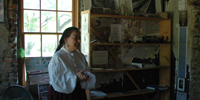 Mary Ritchie describes life in the old days at the Historic Ritchie Houese.