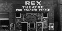 Rex Theatre for Colored People, Leland, Mississippi - June 1937