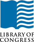The Library of Congress logo of an open book with blue pages.