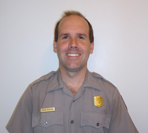 Ranger Justin Sochacki will be headed east to help train staff in park leadership positions.