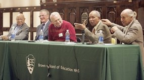 From right, panelists Donald Redmon, Richard Ridley, Henry