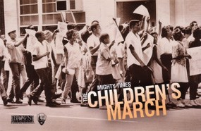 African American children marching in 1963 in Birmingham, Alabama.