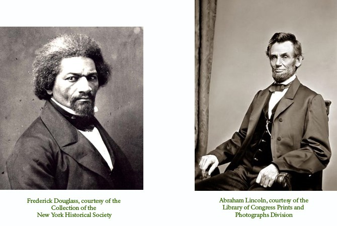 Images of fredericak Douglass and Abraham Lincoln
