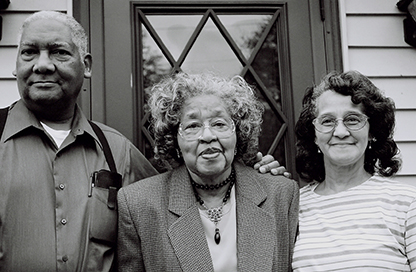 Merle Hudson, Gertrude Clemons Hudson, and Joyce Clemons Kittrell, plaintiffs in Clemons v. Board of Education of Hillsboro, Ohio, 1956.