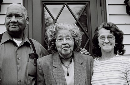 Image of Merle Hudson, Gertrude Clemons Hudson, and Joyce Clemons Kittrell, plaintiffs in Clemons v. Board of Education of Hilsboro, Ohio