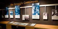 The Struggle Conitunes exhibit in the Legacy of Brown v. Board of Education gallery.