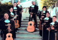 Members of Mariachi Habanero with their instruments.
