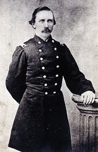 old photo of civil war soldier in formal pose