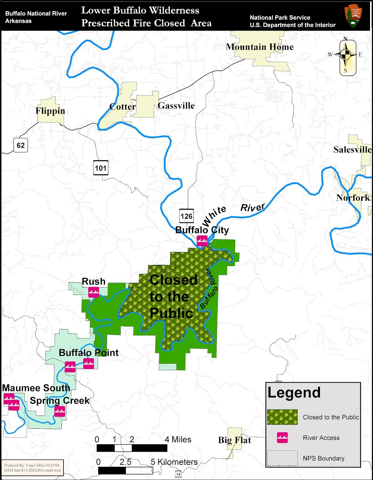 Closure Due To Prescribed Fire At Buffalo National River Buffalo