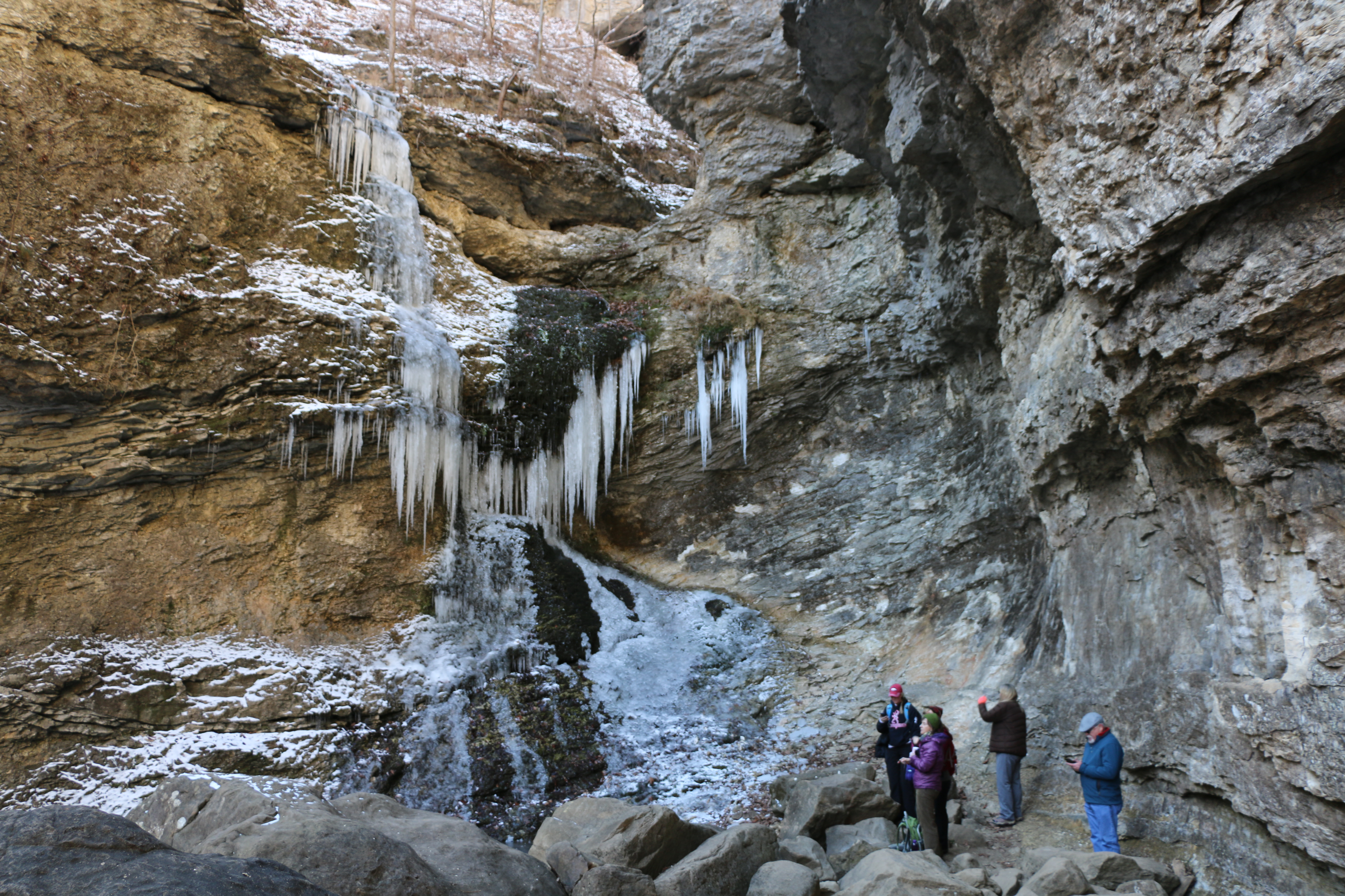 Icy conditions at Eden Falls, Lost Valley Trail