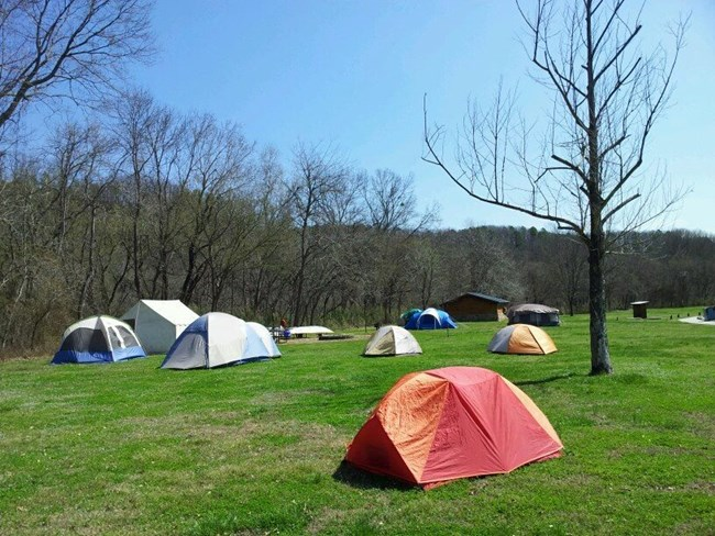 Group site at Tyler Bend Campground