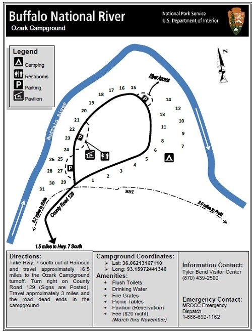 Map of Ozark Campground