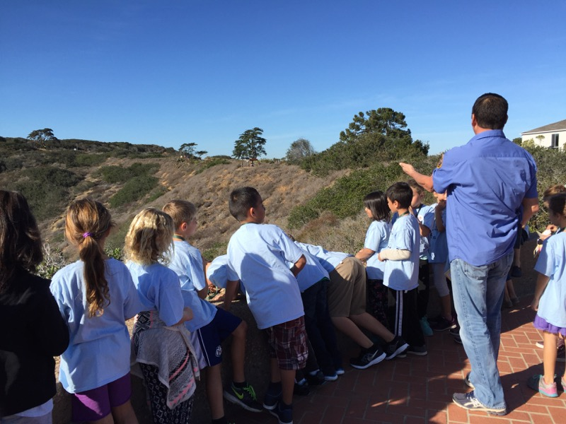 Students explore the Coastal Sage Scrub of Cabrillo National Monument