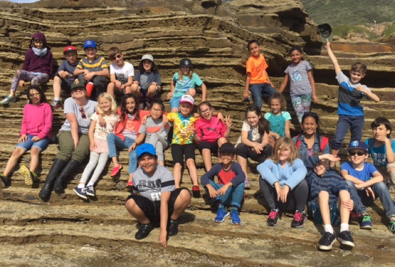 Photo of Elementary students at Tidepools