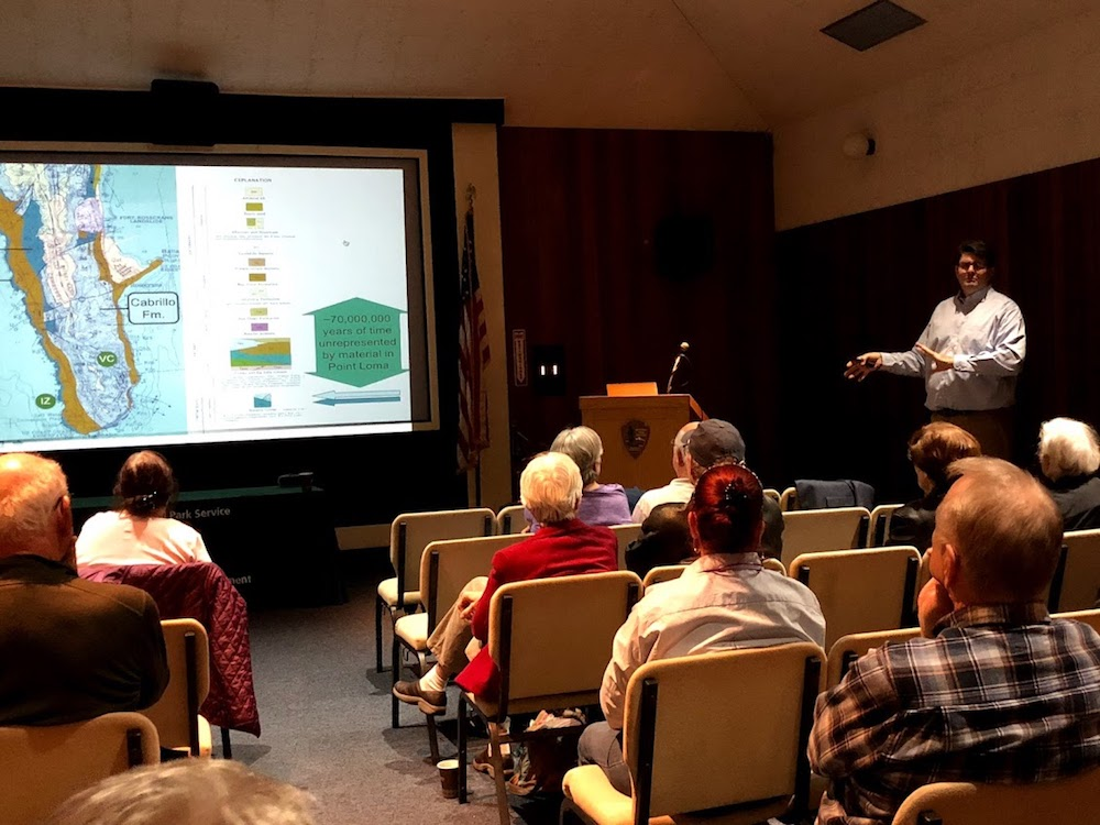 Dr. Stephen Schellenberg presenting to Cabrillo National Monument Foundation members on December 14.