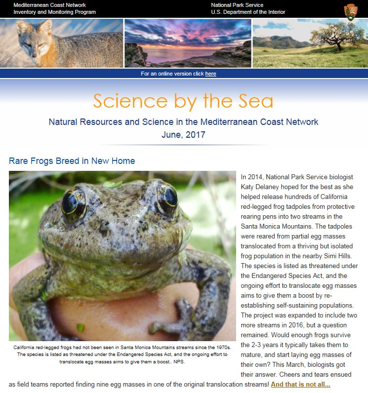 Science By The Sea Newsletter