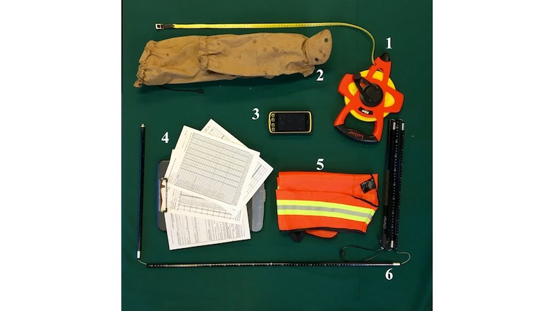 Photo of tools used in Vegetation Monitoring
