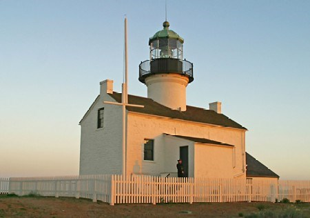 Sunset on Old Point Loma Lighthouse