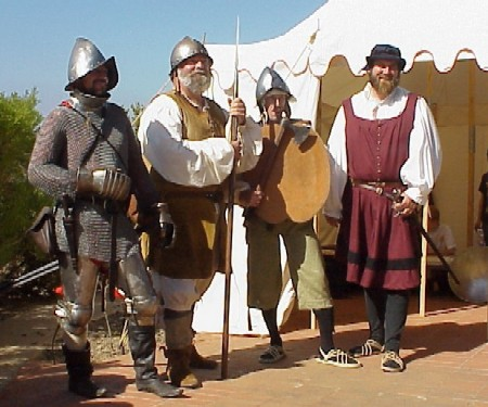 Conquistador living history reenactors at Cabrillo National Monument