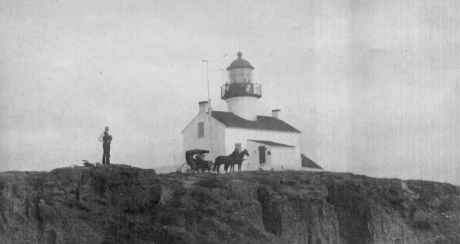 The Point Loma Lighthouse in 1890