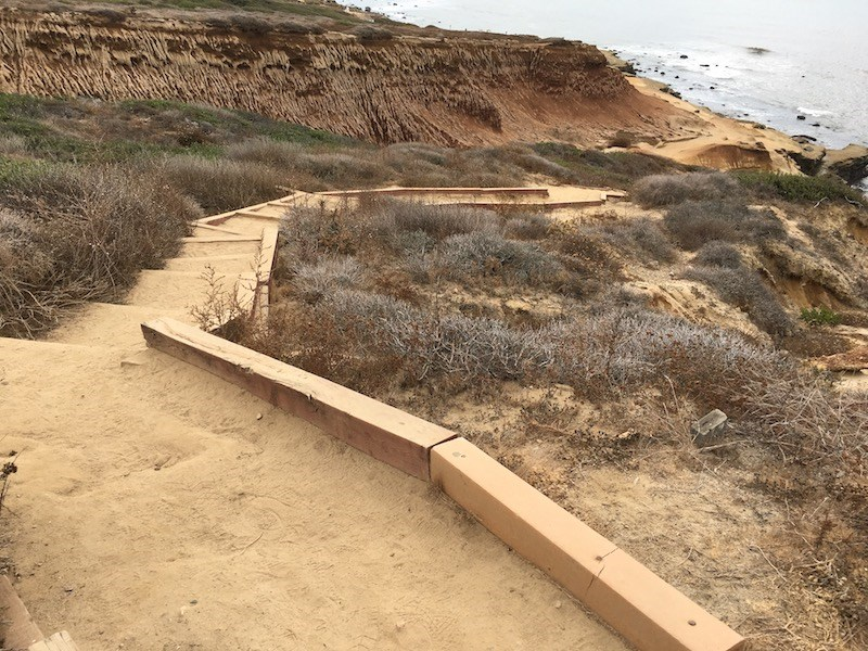 Stairs along Coastal Trail leading away from the Tidepools