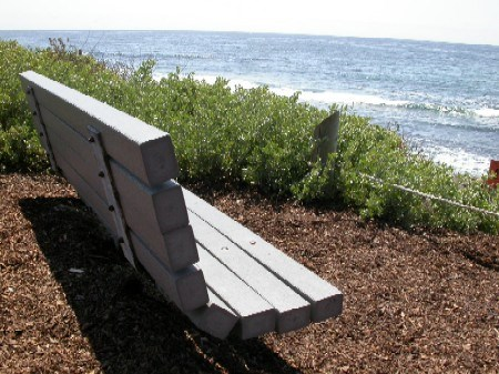 Recycled content bench