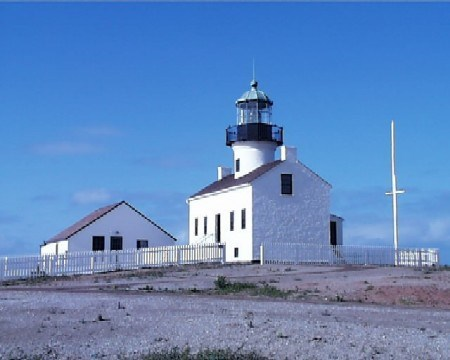 Old Point Loma Lighthouse and Assistant Keepers Quarters