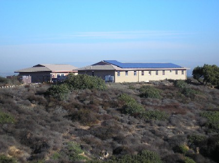 Solar panels on lower Maintenance building at Cabrillo National Monument
