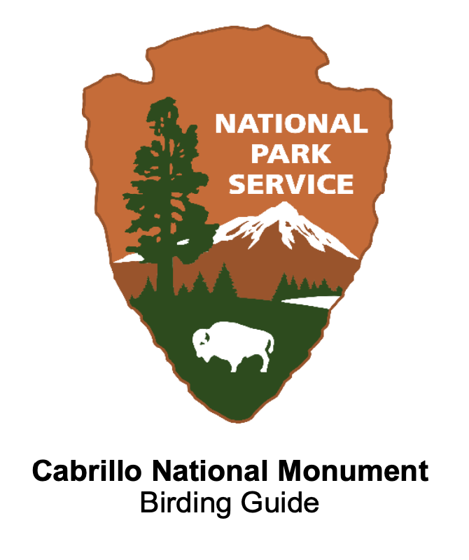 NPS Arrowhead with title Cabrillo National Monument Birding Guide