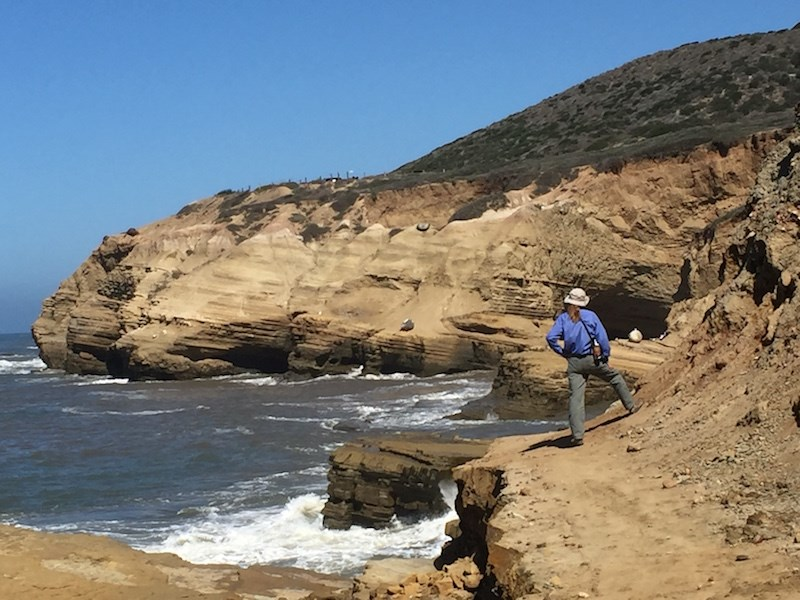 Volunteer Overlooking Tidepool Bluffs