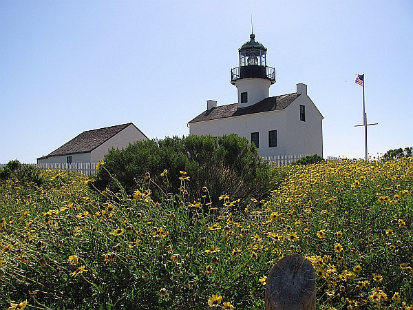 Old Point Loma Lighthouse in Spring