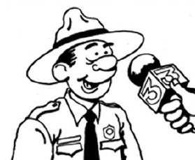 Cartoon of Park Ranger