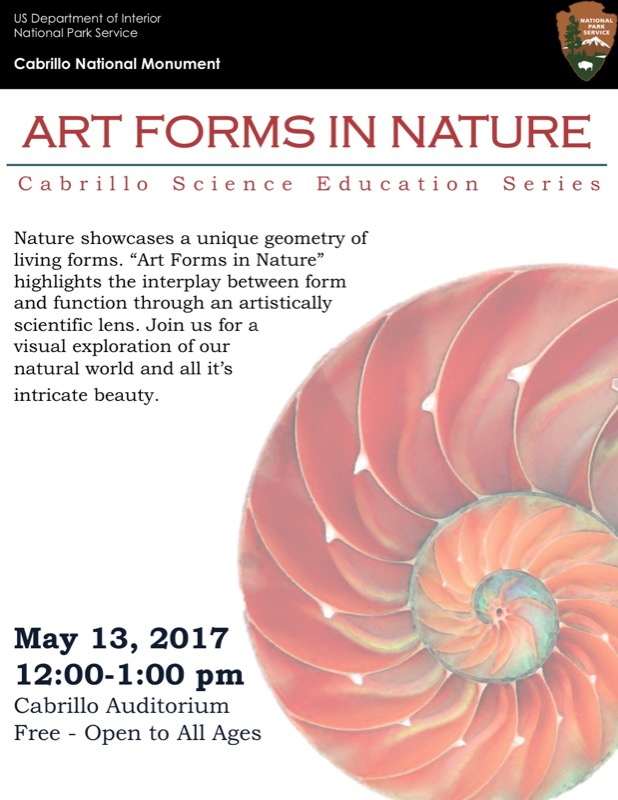 poster for Art Forms in Nature talk