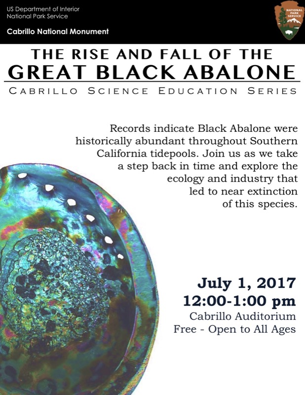 poster for Great Black Abalone talk