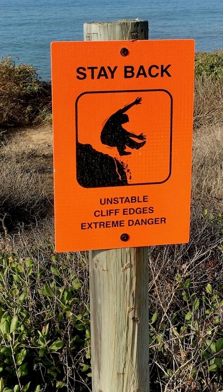 Unstable Cliffs sign