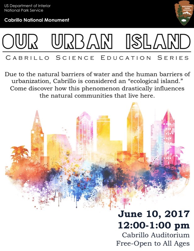 poster for Our Urban Island talk