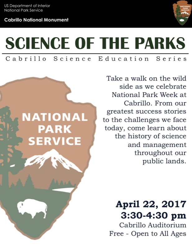 poster for Science of the Parks talk