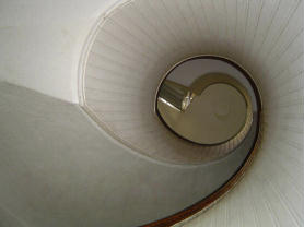 Spiral Staircase in Old Point Loma Lighthouse