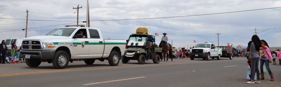 NPS Staff in the Central Navajo Parade