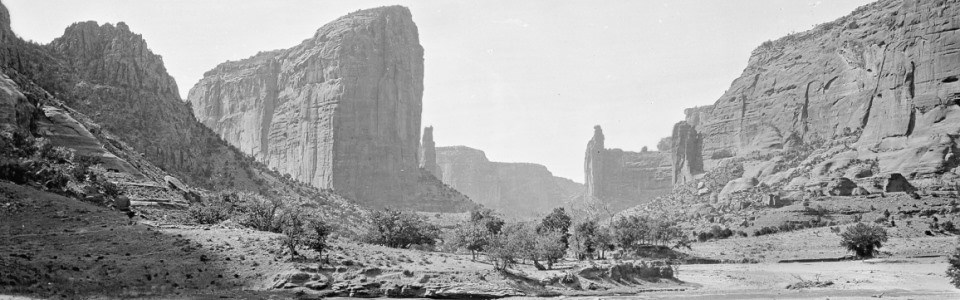 Historic photo of the canyon