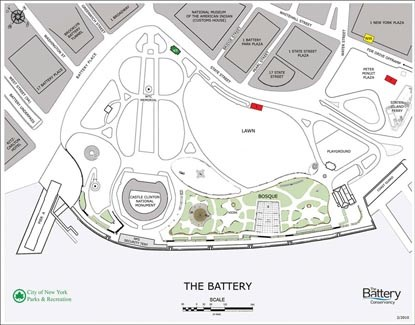 Map of Battery Park