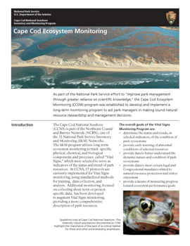 An image of the 2013 Cape Cod Ecosystem Monitoring report cover with download link.