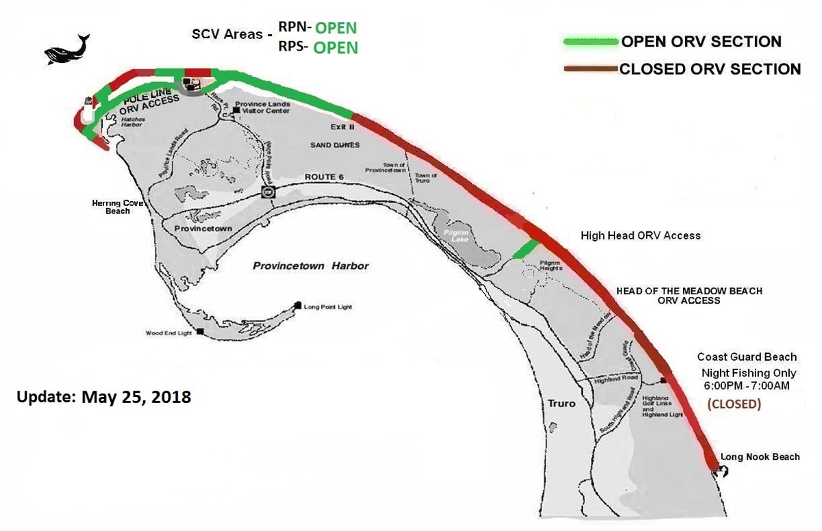 Map of the ORV corridor status
