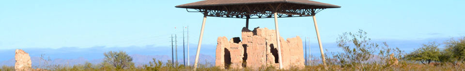The Great House at Casa Grande Ruins stands out for miles